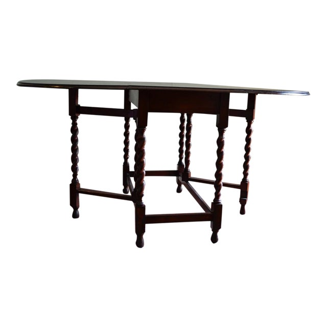 Early 20th Century Antique English Oak Table For Sale