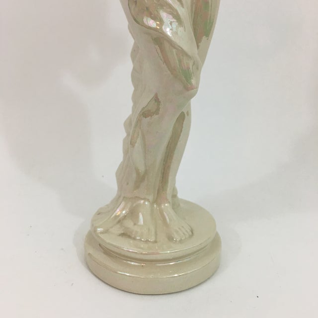 Iridescent Ceramic Water Nymph Statue For Sale - Image 9 of 13