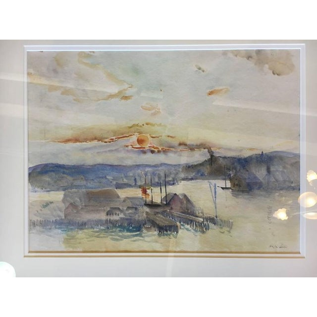 Impressionism Hayley Lever Signed Watercolor Painting For Sale - Image 3 of 6