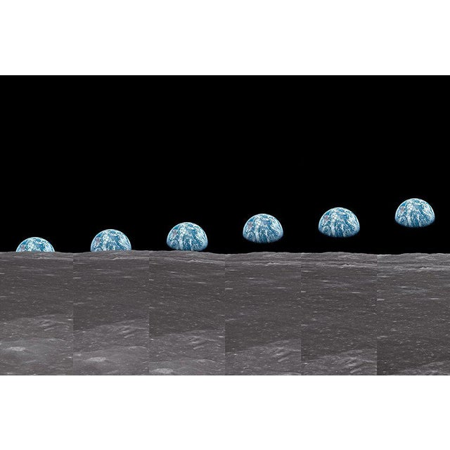 Contemporary Autographed Buzz Aldrin Apollo 11 'Earthrise Sequence' Art Print For Sale - Image 3 of 11
