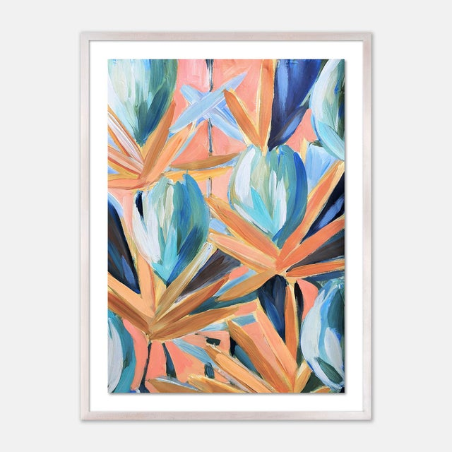 Contemporary Lyford 2 by Lulu DK in White Wash Framed Paper, Large Art Print For Sale - Image 3 of 3