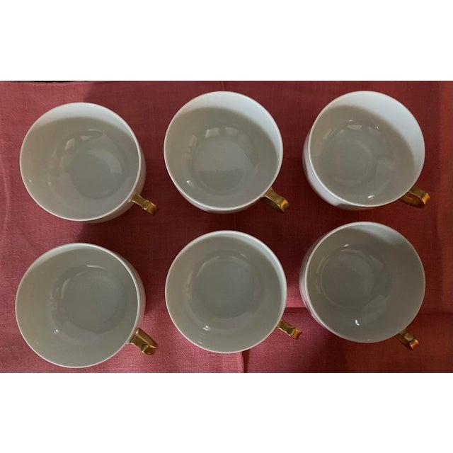 White 1930s Haviland & Co Limoges France Porcelain Cups - Set of 6 For Sale - Image 8 of 9