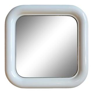Mid Century Italian Artemide Delfo Molded Plastic Mirror For Sale