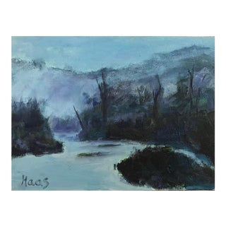 Russian River Mist Original Oil Painting For Sale
