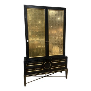 Global Views Gold & Black With Side Board & Hutch For Sale