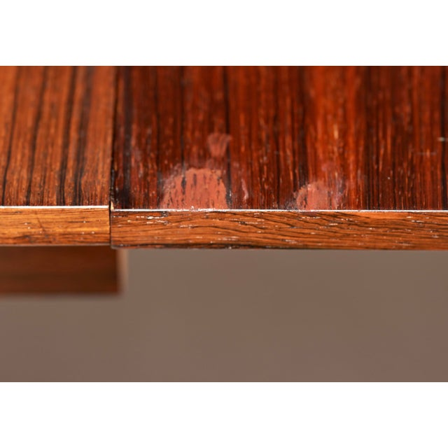 1960s Niels Kofoed for Hornslet Mobelfabrik Henry Rosengren Hansen Rosewood Dining Table- 5 Pieces For Sale - Image 5 of 9