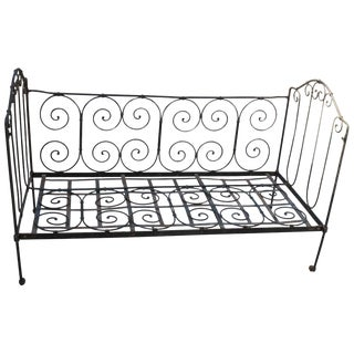 Art Nouveau Metal Daybed For Sale