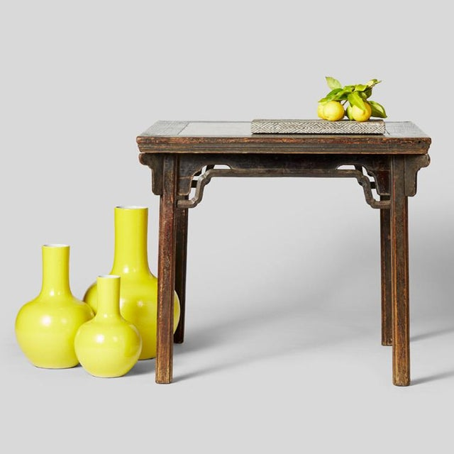 Chinese Petite Citron Gooseneck Vase For Sale In Chicago - Image 6 of 7