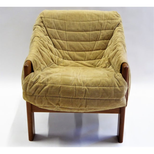 Tan 1970s Domino Mobler Danish Modern Solid Teak Lounge Chair For Sale - Image 8 of 13
