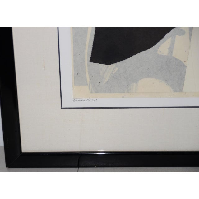 Abstract Late 20th Century Mixed Media Abstract on Paper by H. Munson C.1986 For Sale - Image 3 of 11