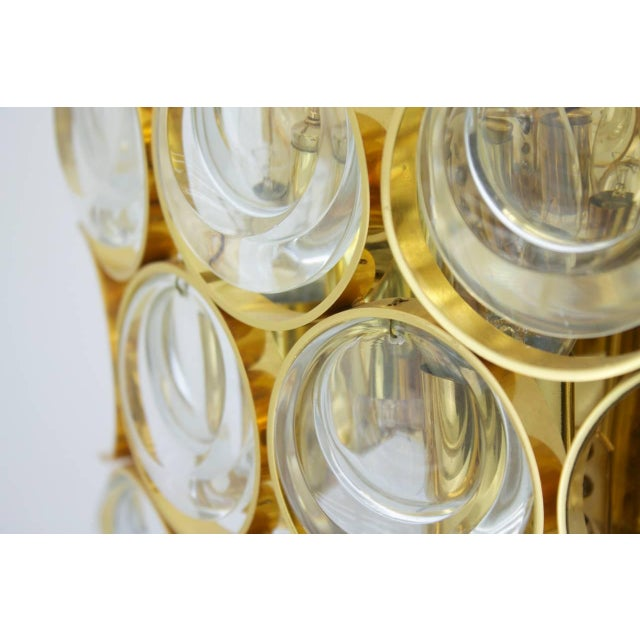1960s Palwa Single Wall Sconce, Gilded Brass and Crystal Glass 1960s For Sale - Image 5 of 8