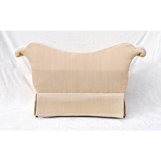 Wood Baker Scroll Arm Settee or Bench For Sale - Image 7 of 11