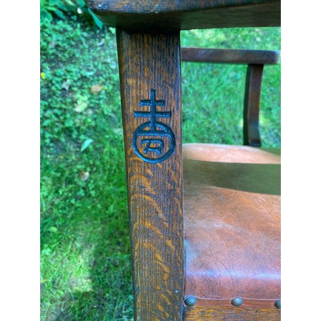 1900s Roycroft Grove Park Inn Chair For Sale In Charlotte - Image 6 of 7