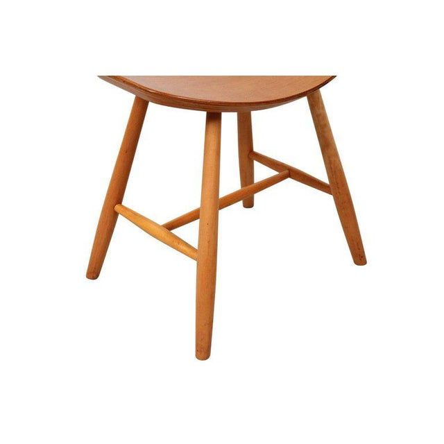 Set of 4 Stools by Ejvind Johansson for FDB Mobler For Sale - Image 9 of 11