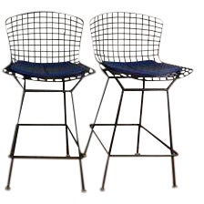 Knoll Bertoia Counter Stools - A Pair For Sale