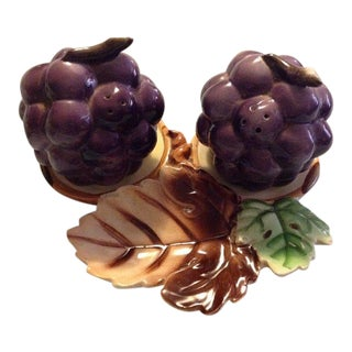Vintage Relco Japan Grapes Salt & Pepper Shakers - a Pair