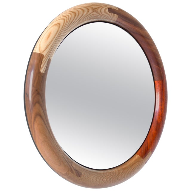 Halo Round Birnam Wood Studio Mirror For Sale