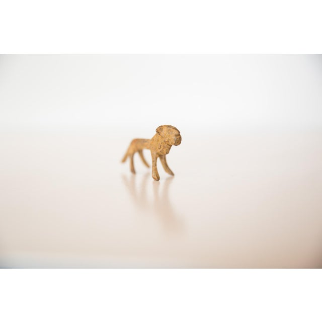 Mid 20th Century Vintage African Mini Bronze Lion With Rusty Patina For Sale - Image 5 of 7
