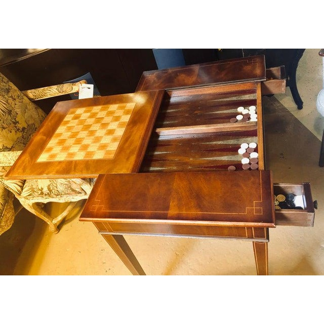 1960s Mahogany Federal Style Smith and Watson Game / Card Table For Sale - Image 5 of 13