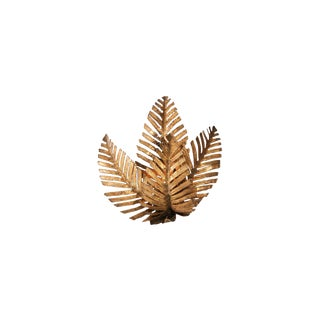Palm Tree Sconce Hand Made in Brass by Maison Jansen For Sale