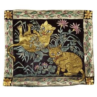 Kittens Silk Velvet Pillow Cover For Sale