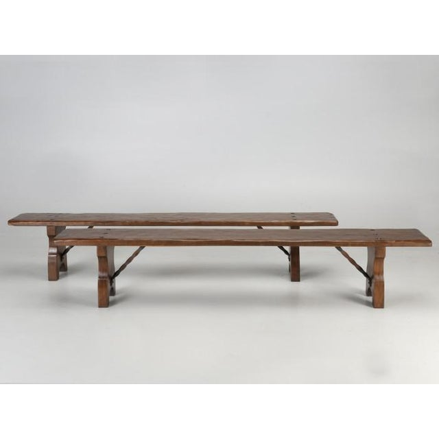 French farm table with a pair of matching French benches. We just received this particular French farm table and it...