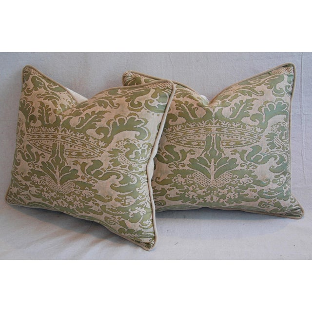 Italian Fortuny Corone Crown Down Pillows - A Pair - Image 10 of 11