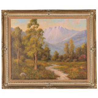 """California Mountain Sunset"" by H. Sartelle For Sale"