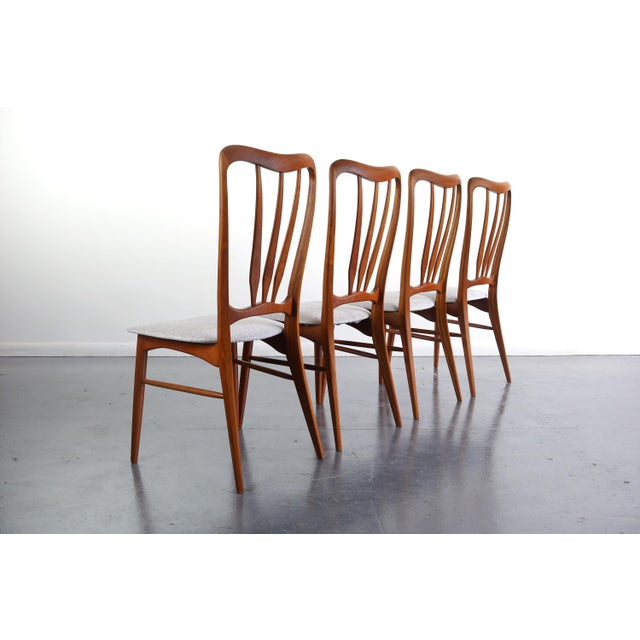 Wood Gorgeous Set of 4 Koefoeds Hornslet Ingrid Chairs For Sale - Image 7 of 7