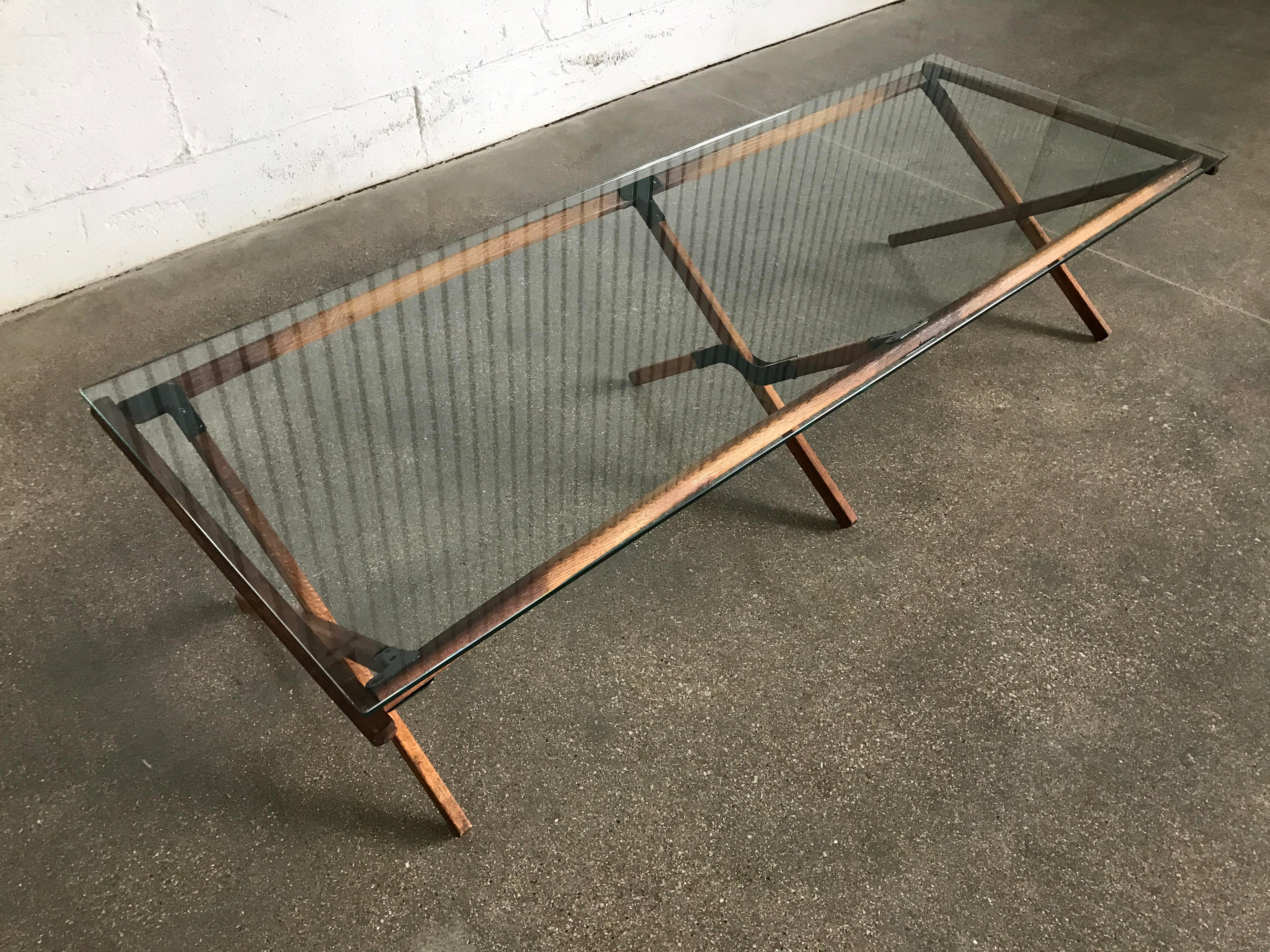 Mid Century Industrial Modern Army Style Camp Cot Coffee Table   Image 2 Of  7