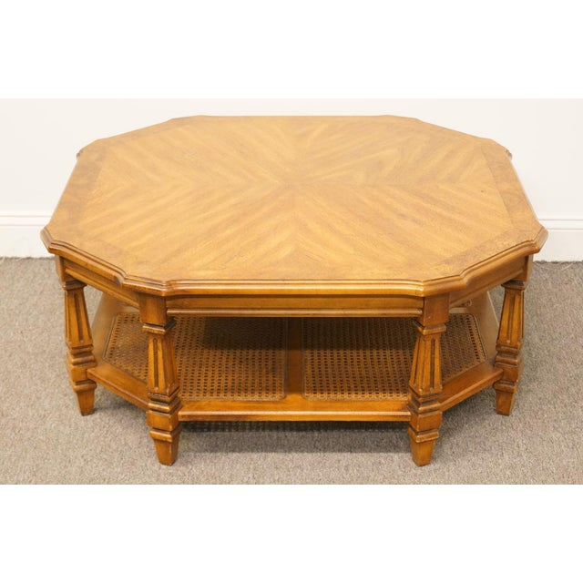 Country Late 20th Century Vintage Mersman Rustic Country Octagonal Coffee Table For Sale - Image 3 of 10