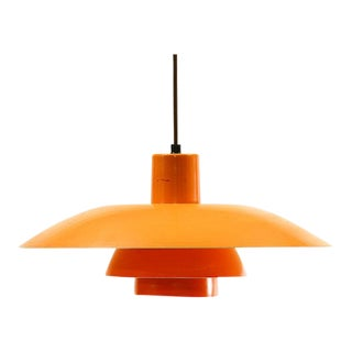 Denmark 1960s Poul Henningsen for Louis Poulsen Orange Pendant Light Ph 4/3