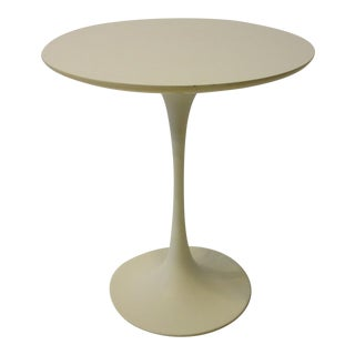 20th Century White Tulip Side Table by Maurice Burke For Sale