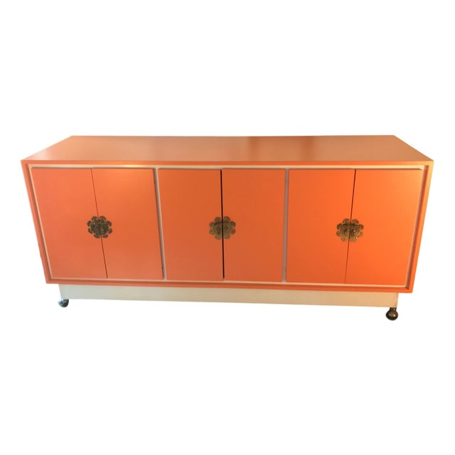 Chinoiserie Chic Cabinet & Drawers Credenza Sideboard - Image 12 of 12