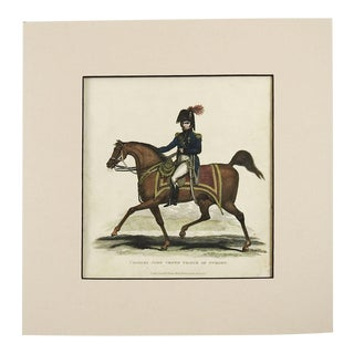 1817 Crown Price of Sweden Equestrian Etching For Sale