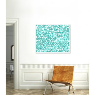 """Large """"haha Turquoise One"""" Print by Kate Roebuck, 41"""" X 31"""" Preview"""