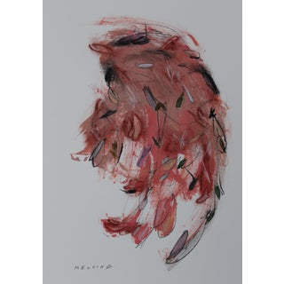 "Melvin G ""Due Piume Rosa"" Mixed Media Painting"