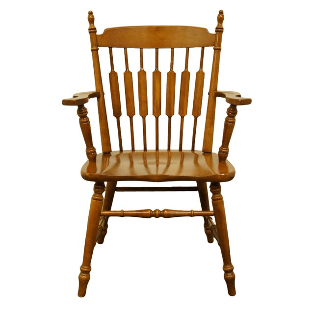 Tell City Maple Colonial Cattail Back Arm Chair For Sale - Image 9 of 9