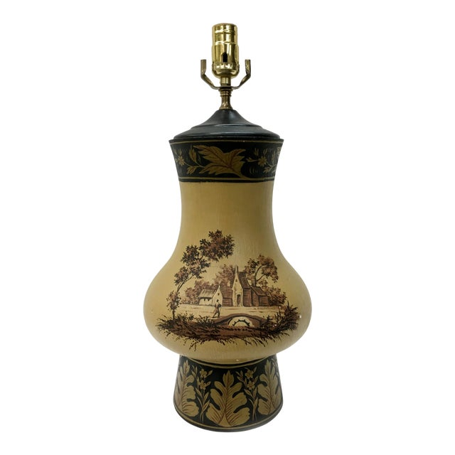 Yellow Orca Wooden Urn Lamp For Sale