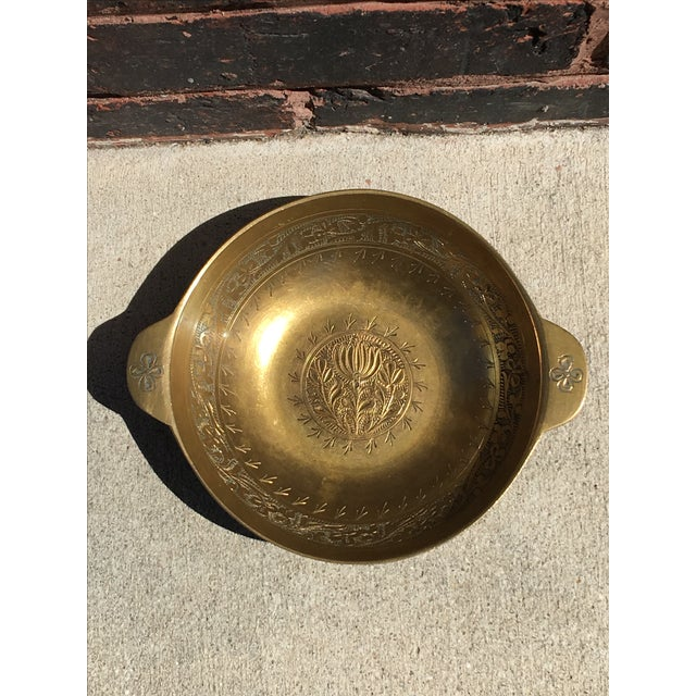 Vintage Chinoiserie Brass Bowl or Catch All - Image 4 of 4