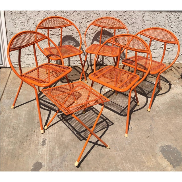 Metal 1960s Vintage Maurizio Tempestini for Salterini Hoop Seating Set- 6 Pieces For Sale - Image 7 of 8