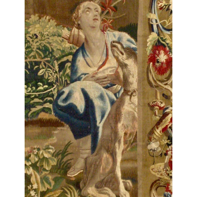 1700s Beauvais Tapestry Wall Hanging For Sale - Image 4 of 13