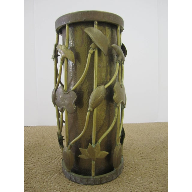 Mid 20th Century Brass Umbrella Stand in the Art Nouveau Style For Sale - Image 5 of 11