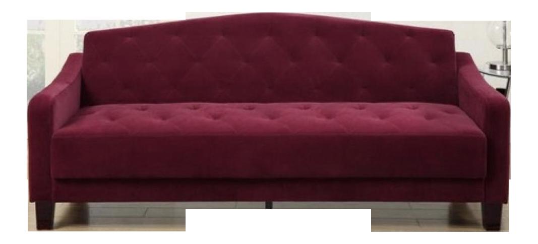 Attirant Au0026J Studio Epson Tufted Burgundy Velvet Adjustable Sleeper Sofa