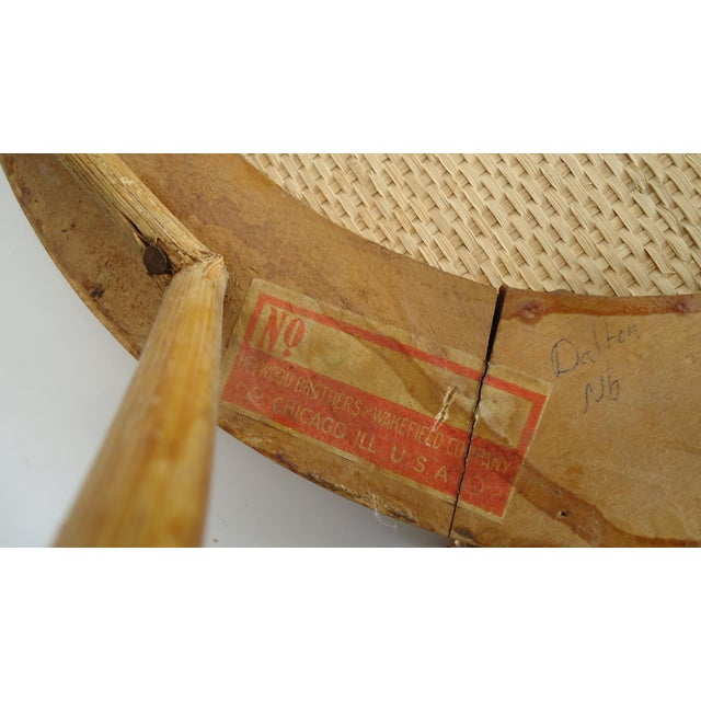 Late 19th Century Vintage Heywood Wakefield Victorian Wicker Photographer's Chair For Sale - Image 9 of 12