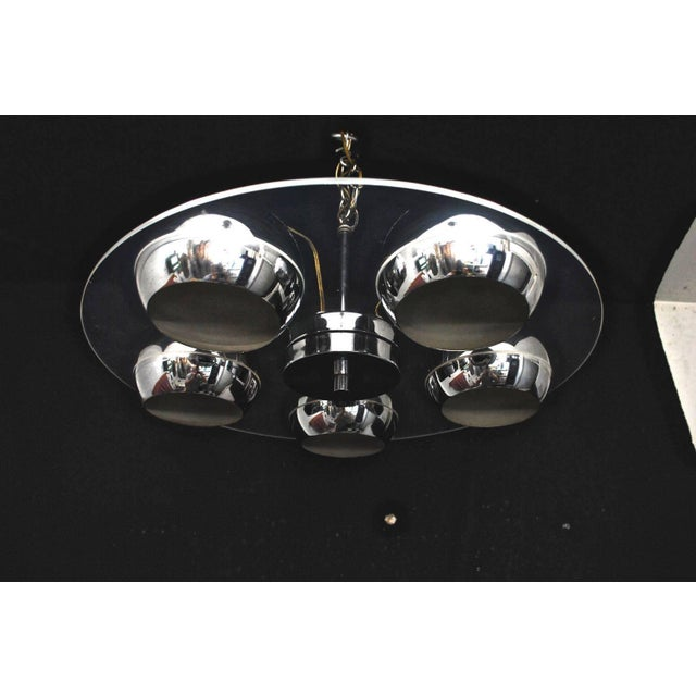 Mid-Century Modern Lucite and Chrome Light For Sale - Image 3 of 5