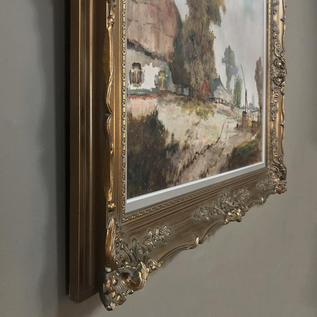 Antique Framed Oil Painting on Canvas by Pauwels For Sale In Baton Rouge - Image 6 of 13