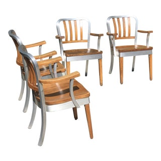 Mid-Century Industrial Shaw Walker Chairs - Set of 4