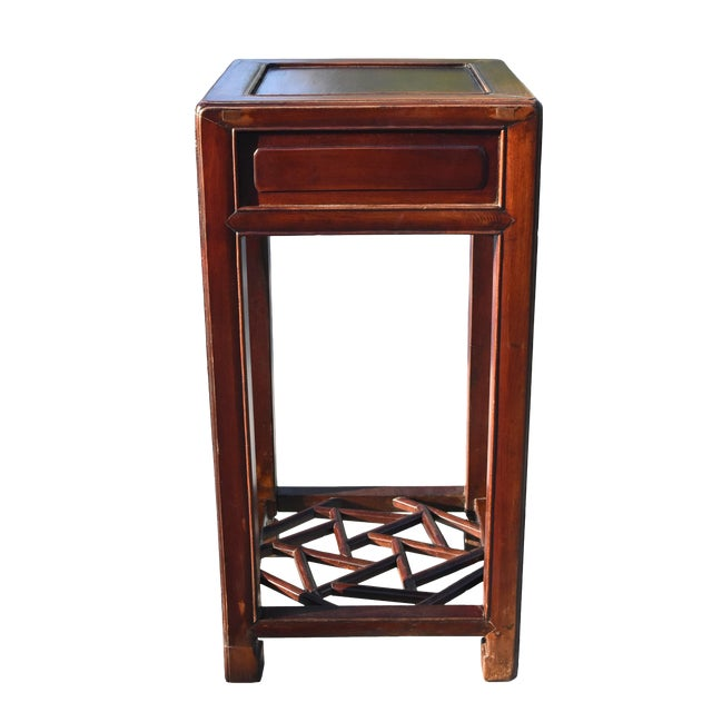 19th Century Chinese Antique Ming Side Table Lamp Table For Sale