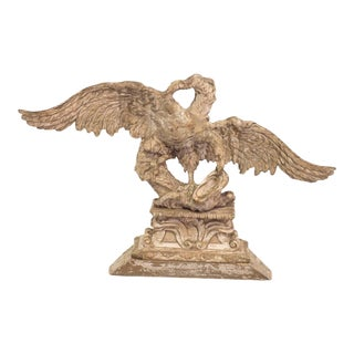 18th Century Americana Beige Carved Eagle Wall Art For Sale